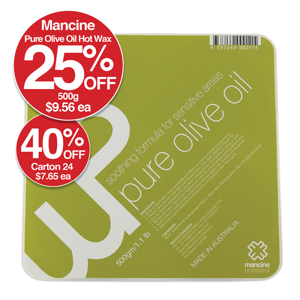 MANCINE PURE OLIVE OIL HOT WAX 500gm