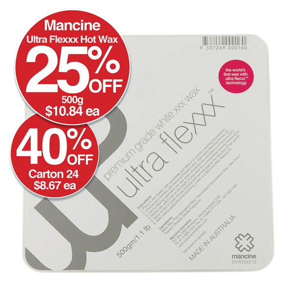 MANCINE ULTRA FLEXXX VANILLA HOT WAX 500gm