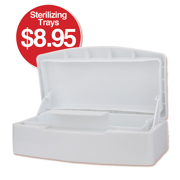 b STERILIZING TRAY White