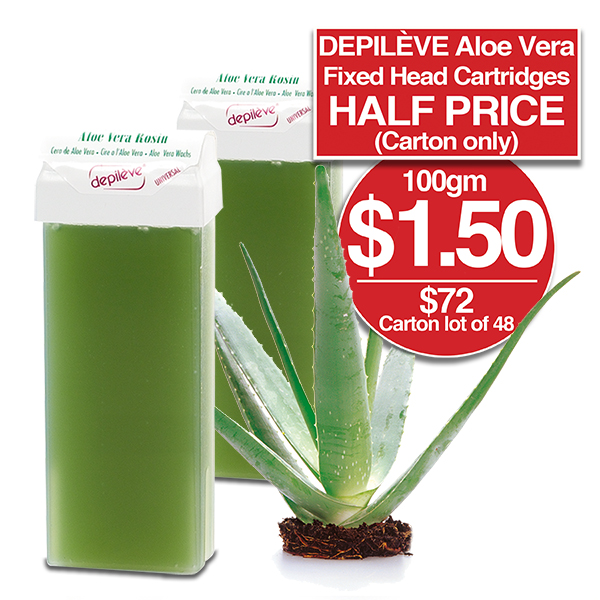 DEPILEVE ALOE VERA FIXED HEAD CARTRIDGE 100gm