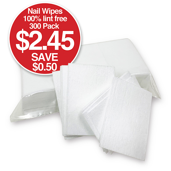 b 100% Lint Free NAIL WIPES 300 Pack