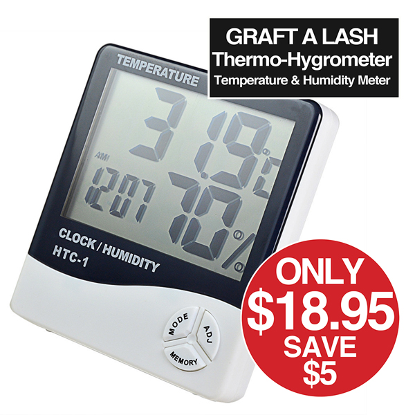 Graft a Lash thermo-hygrometer