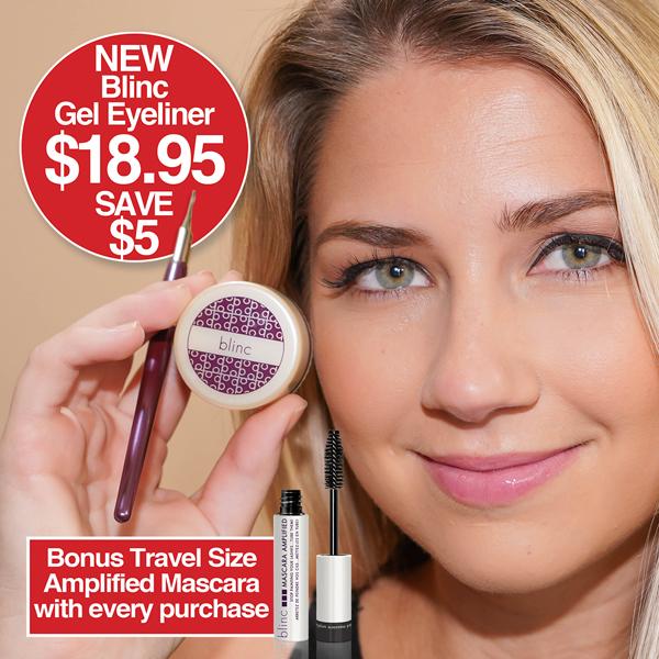 Blinc GEL EYELINER - $18.95 Save $5  Bonus Travel Size Amplified Mascara with every purchase