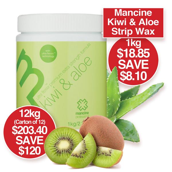 Mancine Kiwi & Aloe Strip Wax