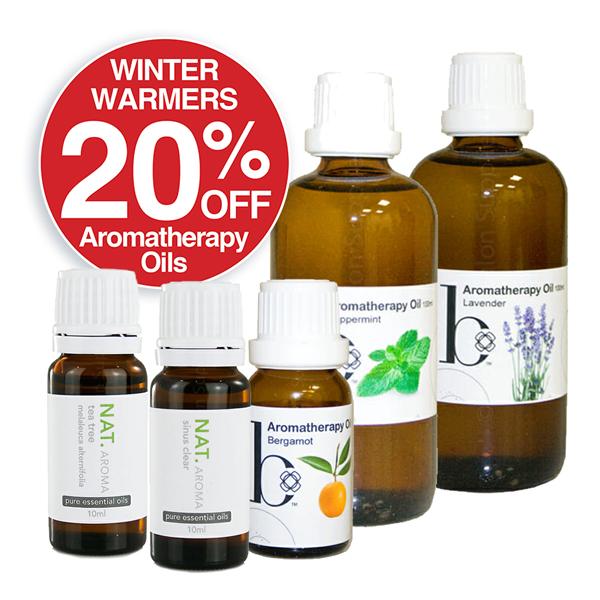 20% OFF Aromatherapy Oils