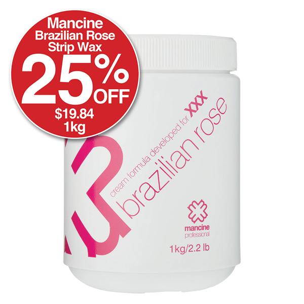 25% OFF MANCINE BRAZILIAN ROSE STRIP WAX 1kg