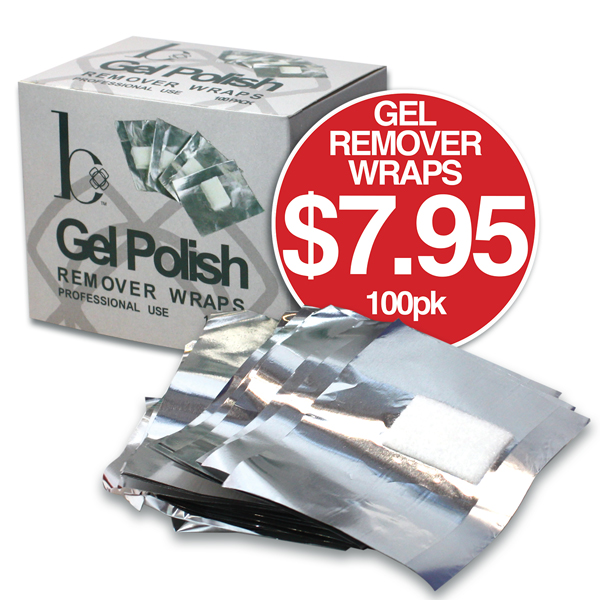 b GEL POLISH REMOVER WRAPS 100 Pack