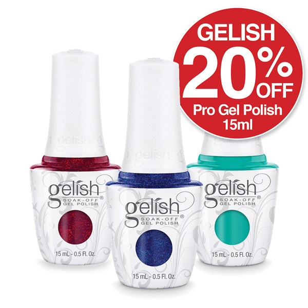 Gelish Gel Polish 20% OFF wow