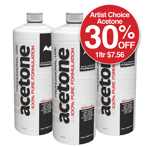 ARTISTS CHOICE ACETONE 1L 30% Off