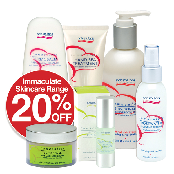 20% OFF Immaculate Skin Care