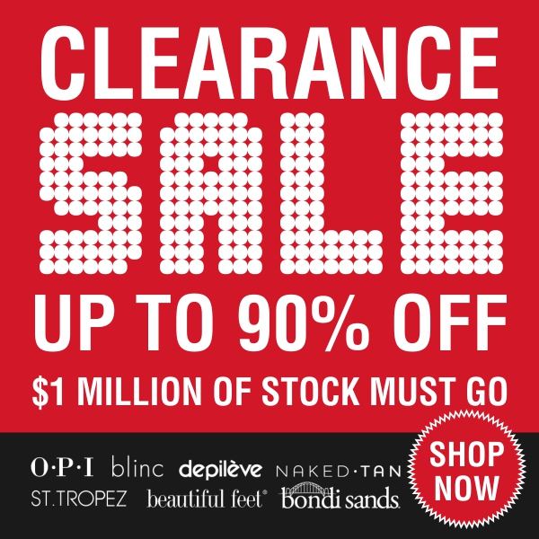 Get into the clearance SALE Shop NOW