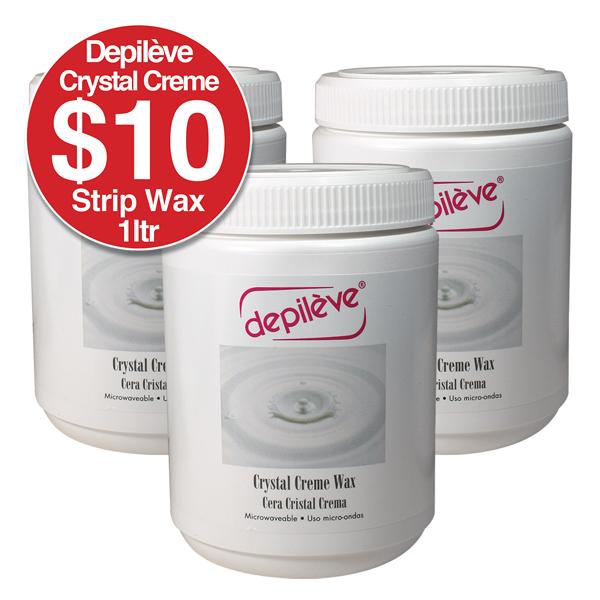 DEPILEVE CRYSTAL CREME STRIP WAX 1kg White