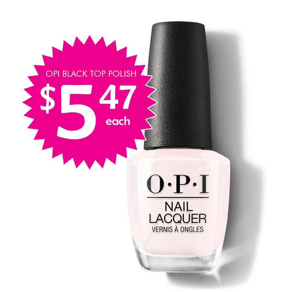 OPI (Black Top) Lacquer 1/2 Price $5.48