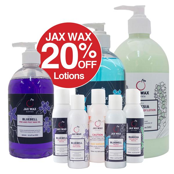 20% Off Jax Wax Lotions
