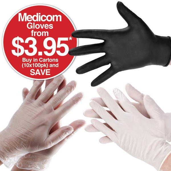 Safe Touch, Medicom, Vitals & Safe Basics Gloves