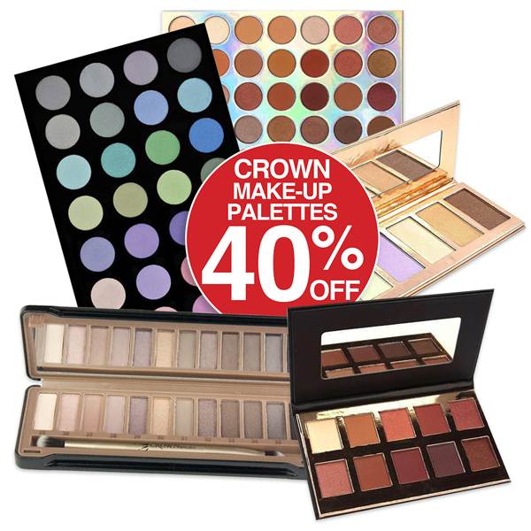 40% off Crown Make-up Pallets