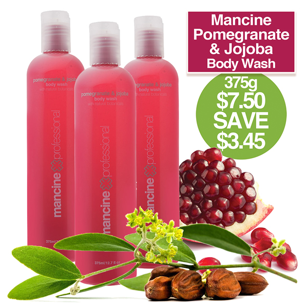 BODY WASH 375ml Pomegran & Jojoba