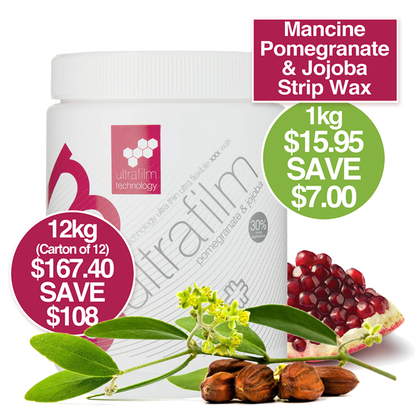MANCINE ULTRA FILM STRIP WAX POMEGRANATE 1kg