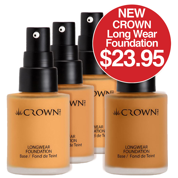 Crown Long Wear Foundation $23.95 - Show all four types Light, Biege, Fair, Medium Biege