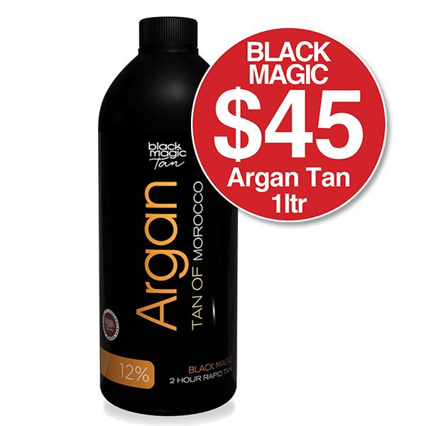 BLACK MAGIC ARGAN TAN OF MOROCCO