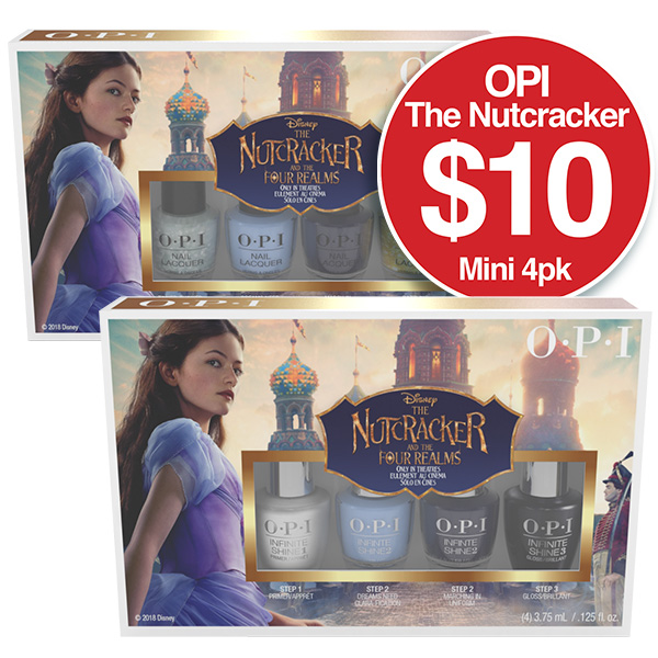 Nutcracker Lacquer 4 Pack $10  Infinite Shine 4 Pack $10