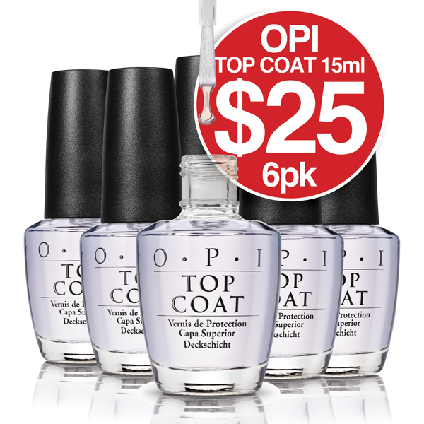 OPI TOPCOAT 6 Pack