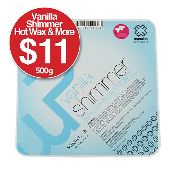 Vanilla Shimmer Hot Wax 500g $11 & More