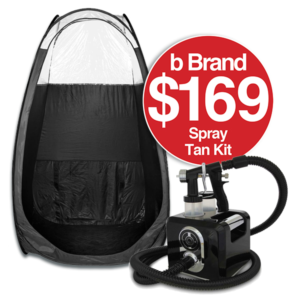 b Spray Tan Kit Deal (Black Dial Unit and Tent $169)