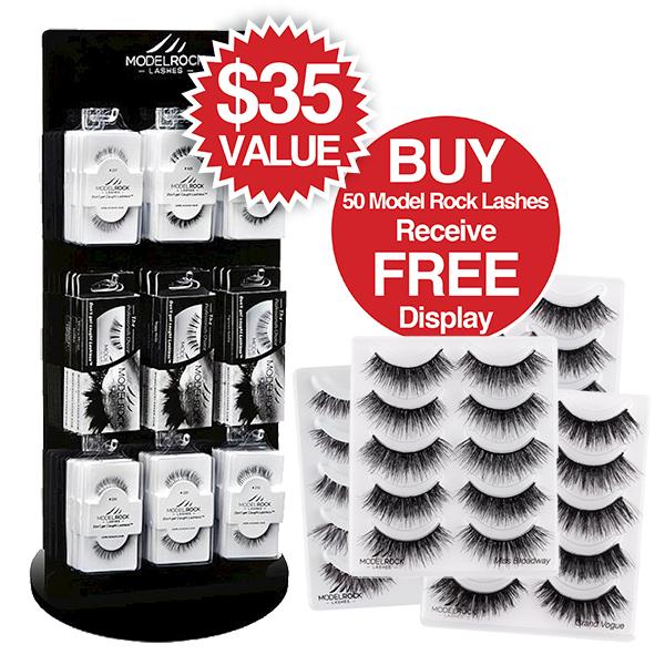 Buy 50 Model Rock Lashes Receive FREE Lash Display ($35 Value)