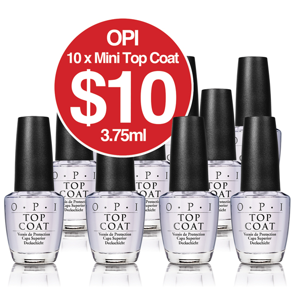 OPI TOPCOAT Mini Pack 10 x 3.75ml JUST $10