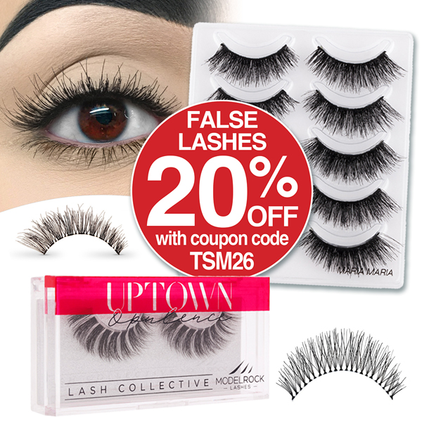 20% OFF FALSE LASHES WITH COUPON