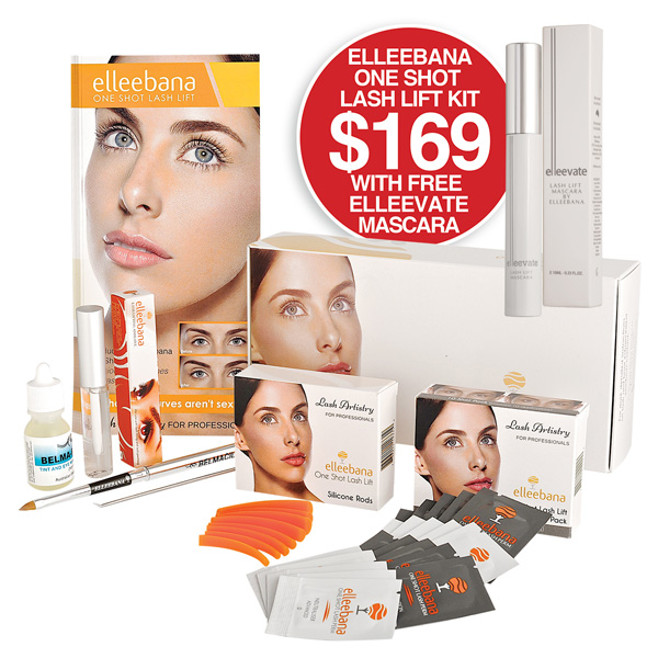 Elleebana One shot Lash Lift Kit with FREE Elleevate Mascara